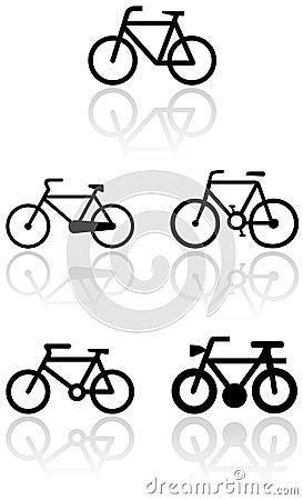 自行车集合符号向量 库存照片 - 图片: 1691383