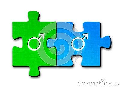 голубые символы
