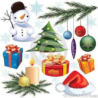 圣诞节装饰集