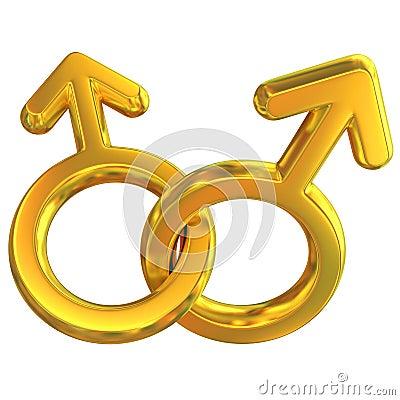 表示符号二的克服的快乐男性关系
