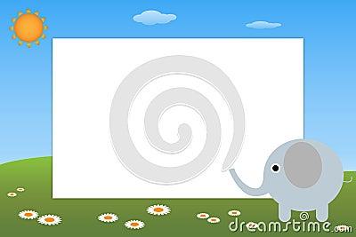 大象框架孩子