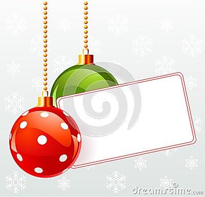 Κενή ετικέτα με τη διακόσμηση Χριστουγέννων