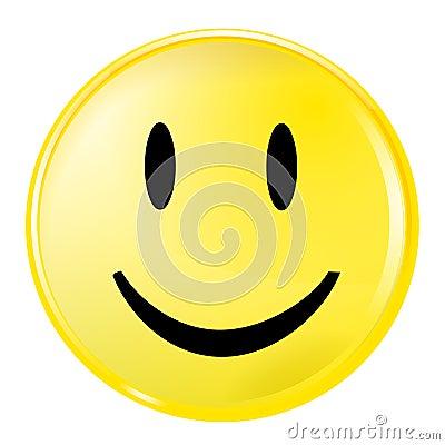 表面面带笑容黄色