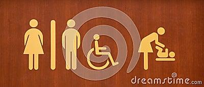 туалет знака
