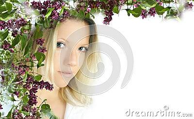 женщина цветка