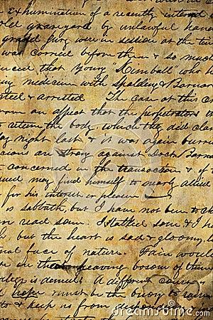 рукопись старая