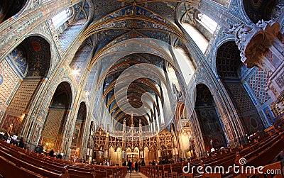 阿尔比大教堂法国遗产站点科教文组&# 编辑类库存图片