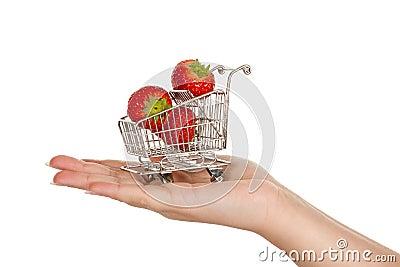 καροτσάκι φραουλών