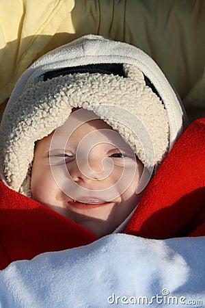 微笑的婴孩