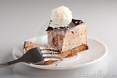 美味蛋糕的巧克力