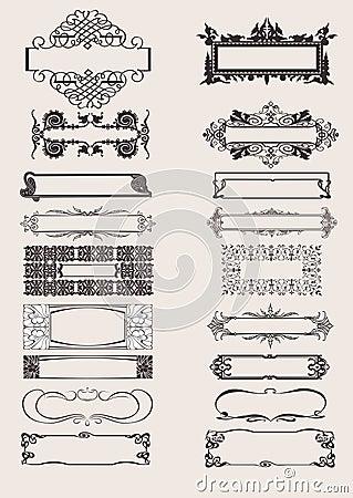要素框架装饰品集合向量