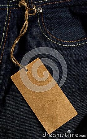 牛仔裤标签