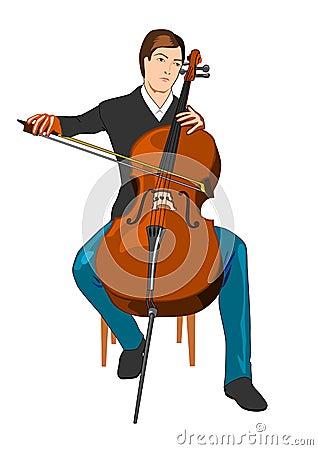 大提琴球员