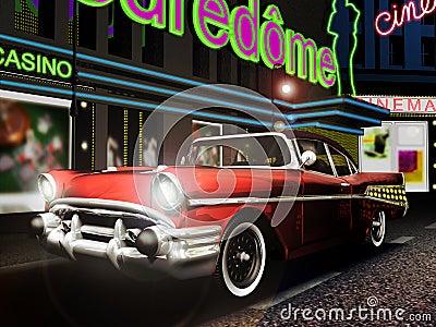 Κλασικό αυτοκίνητο στην πόλη