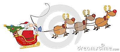 免版税库存照片 - 圣诞老人简笔画-圣诞老人和他的袋子简笔画_ 圣诞