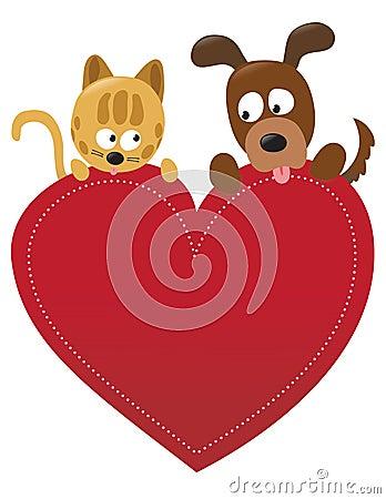 βαλεντίνος σκυλιών γατών