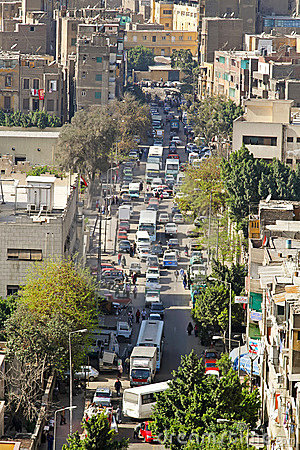 开罗街道 图库摄影片