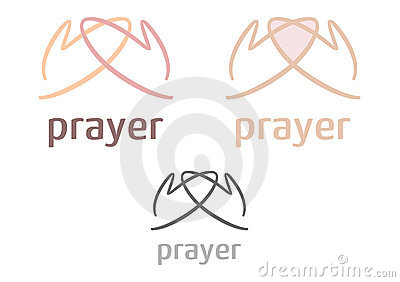图标简单徽标的祷告