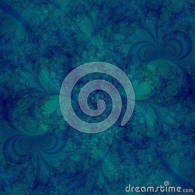 抽象水色背景蓝色设计绿色遮蔽漩涡模板