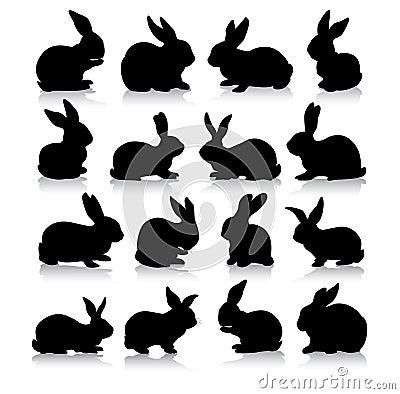 силуэты кролика