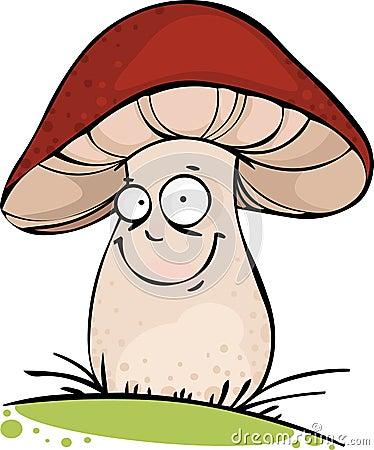 смешной гриб