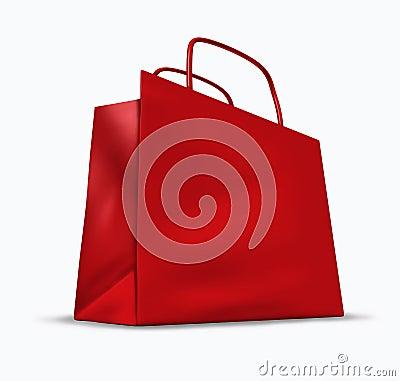 袋子红色购物