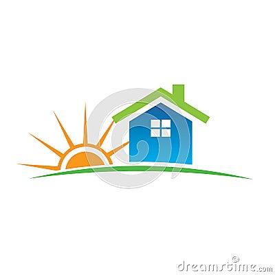家庭徽标阳光