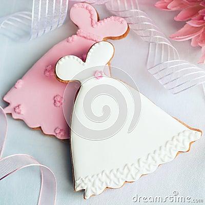 γάμος φορεμάτων μπισκότων