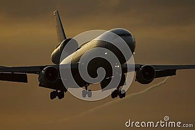飞机着陆 库存照片 - 图片