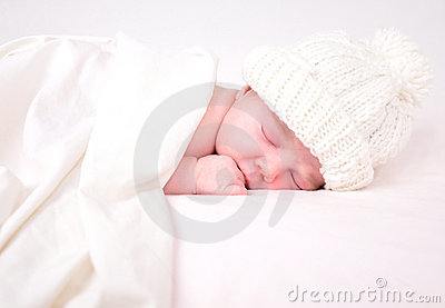 一揽子的婴孩矮小新出生的休眠白色