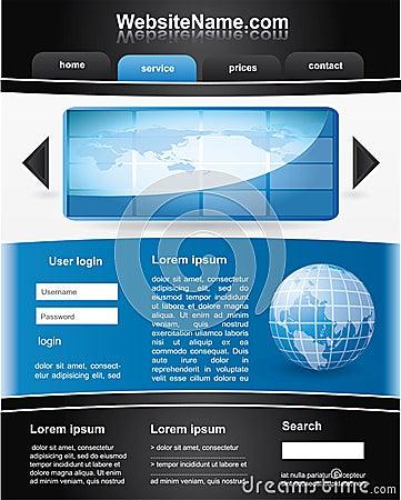 黑色蓝色编辑可能的模板网站