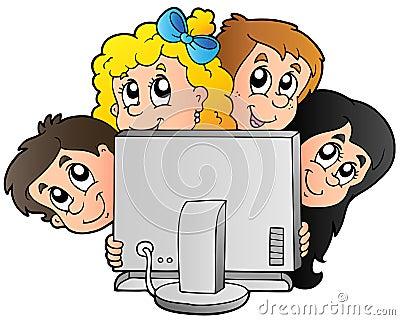 动画片计算机孩子