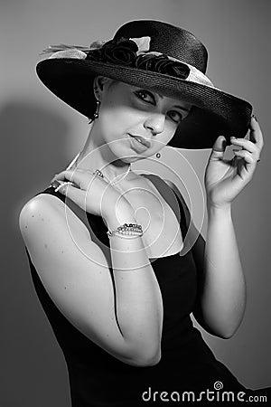 ελκυστική γυναίκα καπέλ