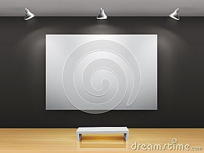 黑暗的画廊内部