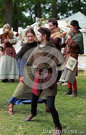 中世纪的舞蹈 编辑类照片