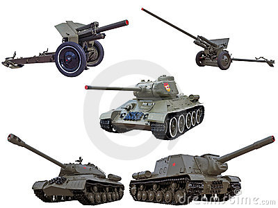 陆军大炮开枪红色苏联坦克战争世界
