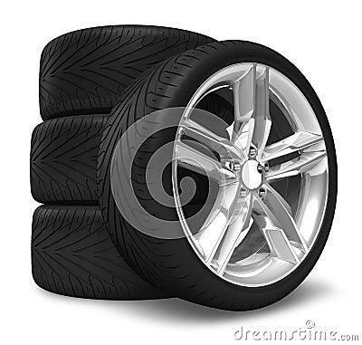 汽车集合轮子