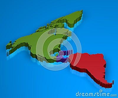 τρισδιάστατος χάρτης της &A