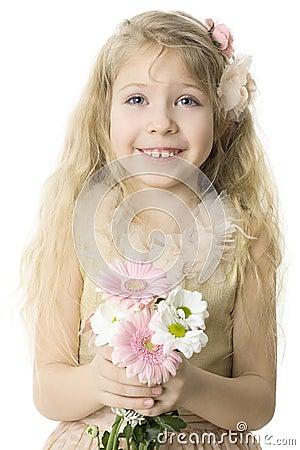 暴牙快乐的儿童的微笑