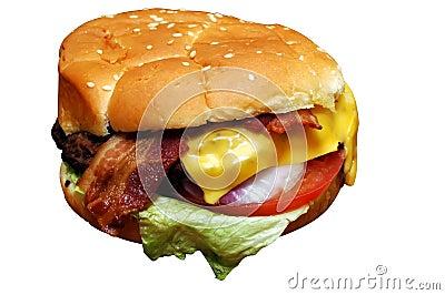 烟肉乳酪汉堡