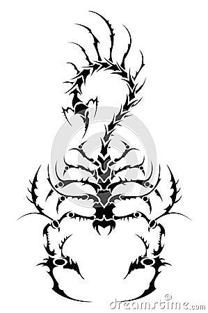 蝎子纹身花刺 免版税库存照片