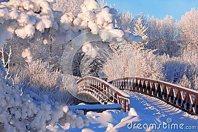 зима моста