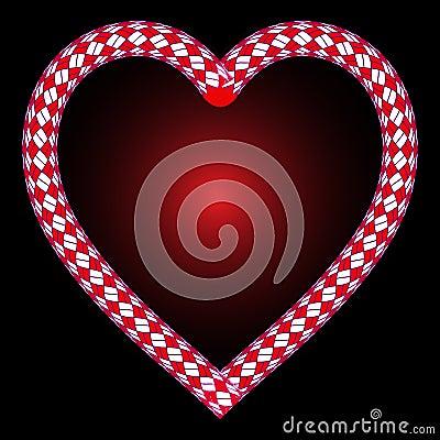 взбираясь веревочка сердца