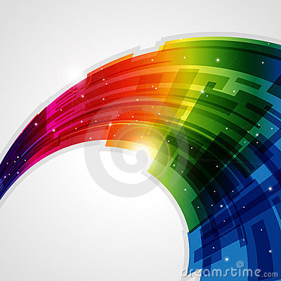 抽象背景彩虹