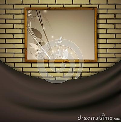 砖绘画墙壁