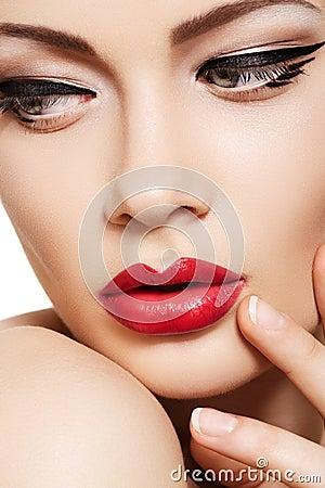 接近的表面方式魅力嘴唇做模型
