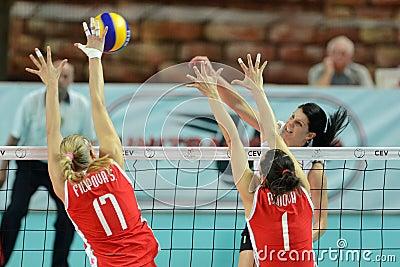 волейбол Венгрии игры Болгарии Редакционное Стоковое Фото