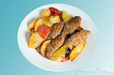 食物土耳其伊兹密尔的丸子