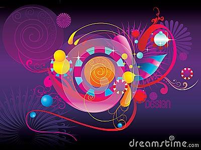 抽象颜色乐趣形状