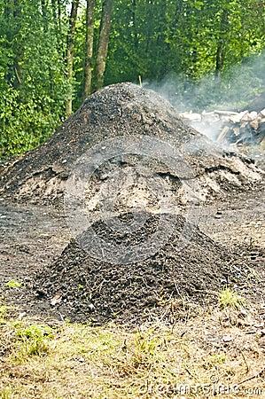 燃烧器木炭
